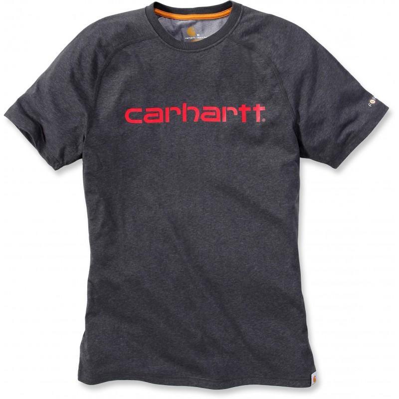 T-SHIRT anti transpirant CARHARTT gris foncé FORCE