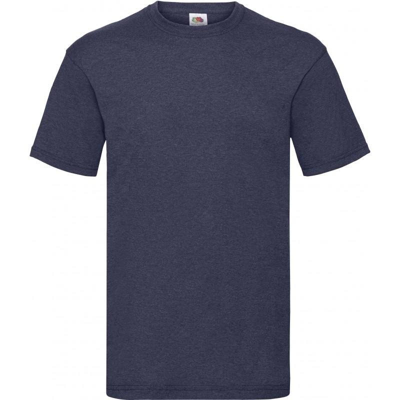 T-Shirt S au 3XL bleu marine foncé vintage homme valueweight fruit of the loom SC221