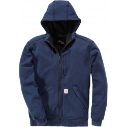 Sweat-shirt zippé capuche bleu marine Windfighter carhartt