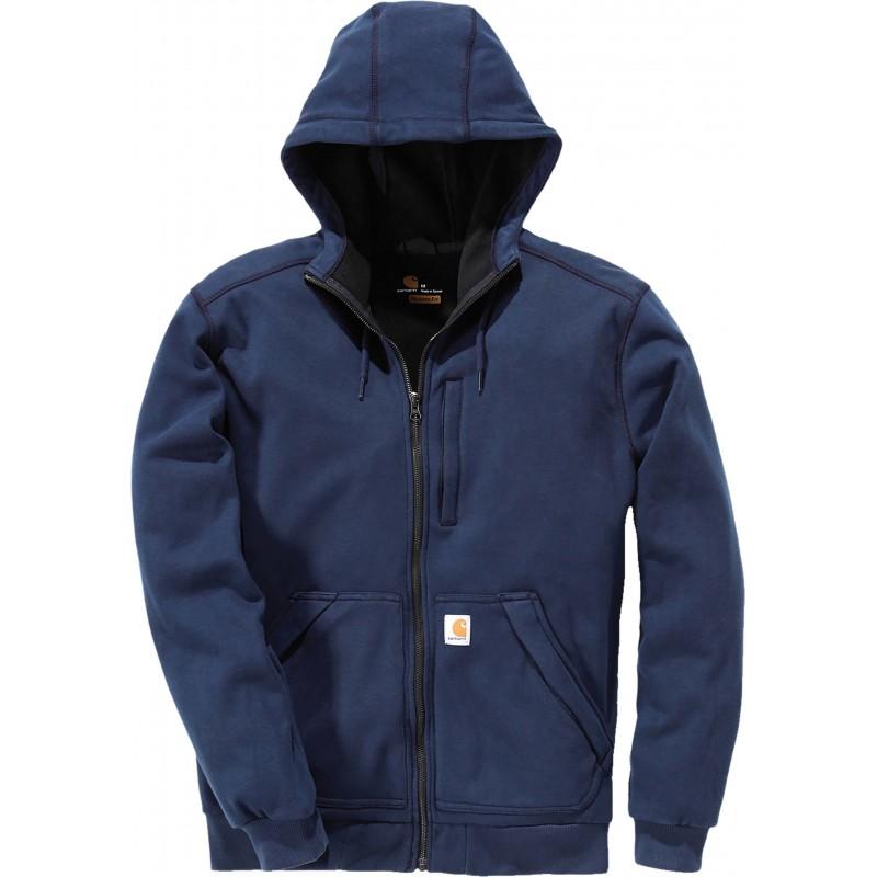 Sweat-shirt zippé capuche bleu marine Windfighter carhartt