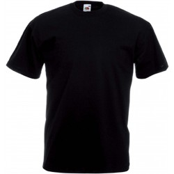 T-Shirt S au 5XL noir homme valueweight fruit of the loom SC221