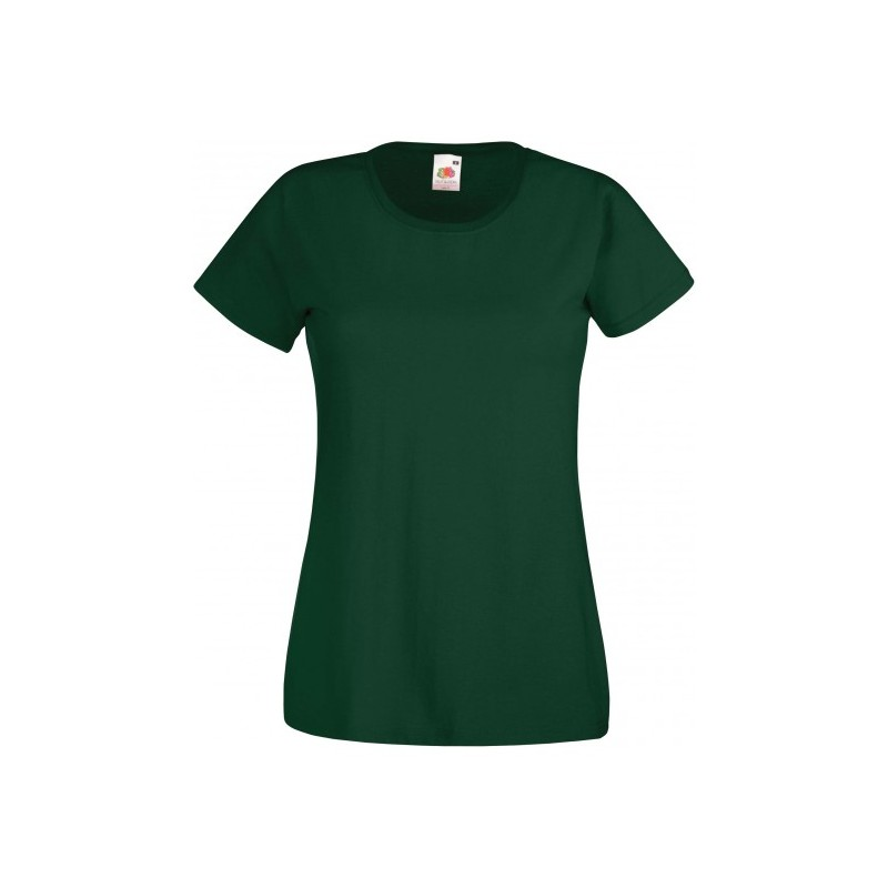 T-SHIRT XS au 2XL FEMME VERT BOUTEILLE VALUEWEIGHT FRUIT OF THE LOOM SC61372