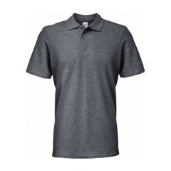 Polo gris foncé Homme Softstyle coton Double Piqué marque gildan