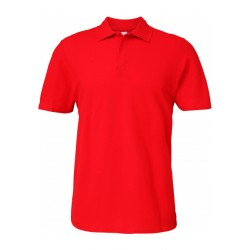 Polo rouge Homme Softstyle coton Double Piqué marque gildan