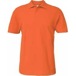 Polo orange Homme Softstyle...