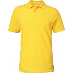 Polo jaune Homme Softstyle coton Double Piqué marque gildan
