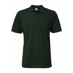 Polo vert forêt Homme Softstyle coton Double Piqué marque gildan