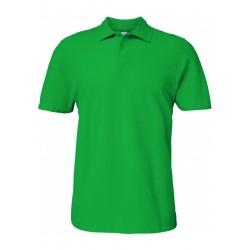 Polo vert Irlandais Homme Softstyle coton Double Piqué marque gildan