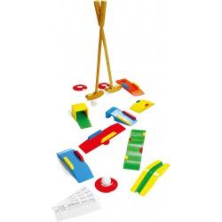 Minigolf bois pour enfant 3 ans huit obstacles