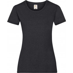 T-SHIRT XS au 2XL FEMME GRIS FONCE VALUEWEIGHT FRUIT OF THE LOOM SC61372