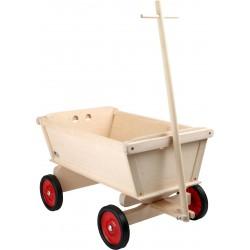 Chariot pour enfants bois Naturel pneus caoutchouc