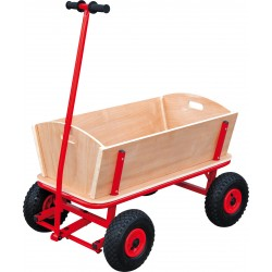 Chariot enfant Maxi bois acier rouge