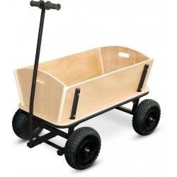 Chariot enfant XXL en bois et métal noir pique-nique