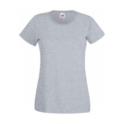 T-SHIRT XS au 2XL FEMME GRIS CLAIR VALUEWEIGHT FRUIT OF THE LOOM SC61372
