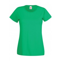 T-SHIRT XS au 2XL FEMME VERT IRLANDAIS VALUEWEIGHT FRUIT OF THE LOOM SC61372