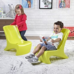 STEP2 JUNIOR CHIC 2-PIÈCE CHAIR SET LIME CHAISE PLASTIQUE JAUNE CITRON ENFANT 2 ANS