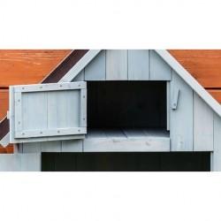 HABRITA Foresta Armoire bois Cabine outils de jardin rangement blanche ARM 0805 W