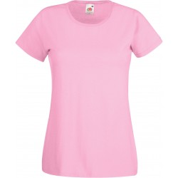 T-SHIRT XS au 2XL FEMME ROSE PALE VALUEWEIGHT FRUIT OF THE LOOM SC61372