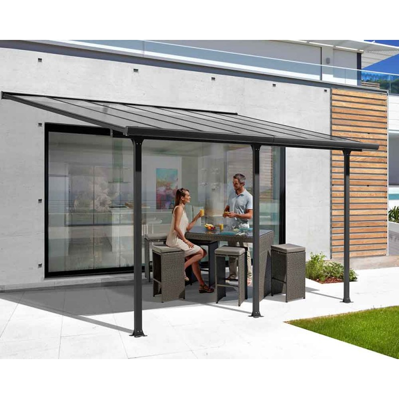 Habrita Pergola Toit Terrasse Aluminium 4,18m x 3,07m (12,83 m²)