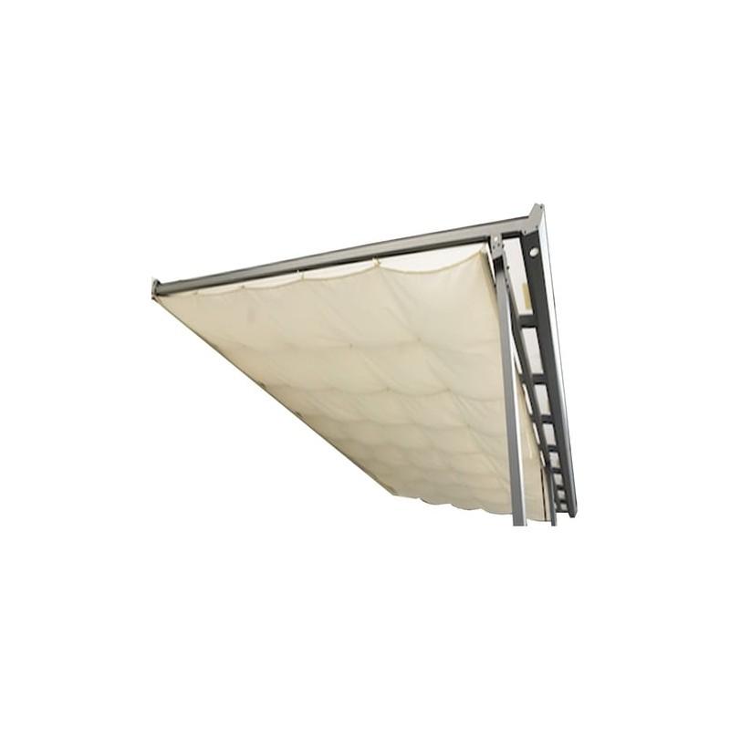 Habrita rideau d'ombrage pour toit terrasse tt 3050 al fabriqué en polyester 130 gr/m2 coloris écru