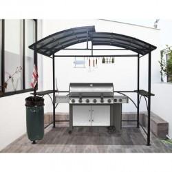 HABRITA Tonnelle Abri en acier pour barbecue support poubelle