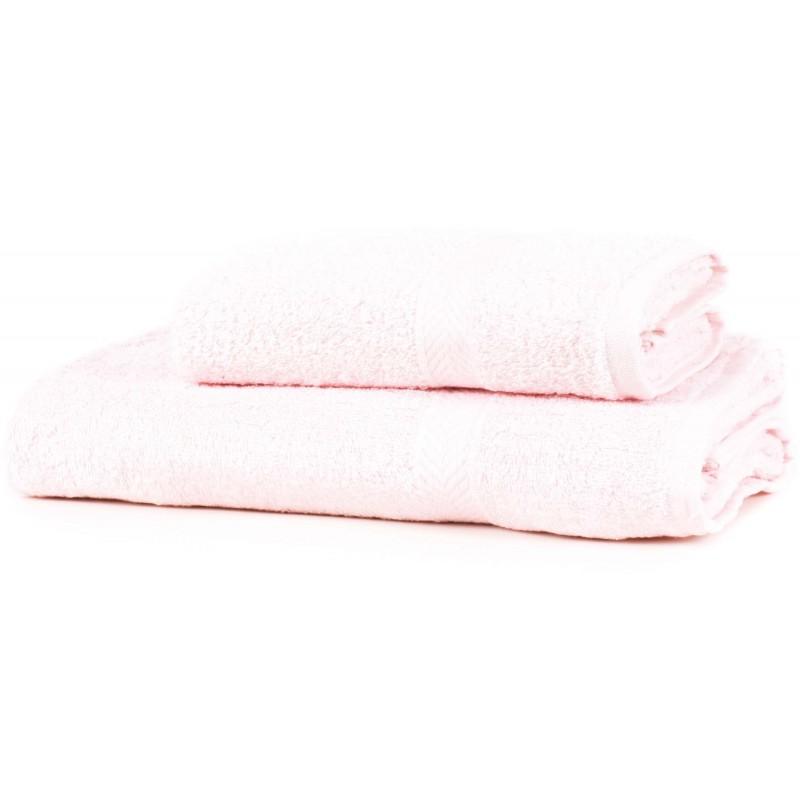 SERVIETTE DE TOILETTE rose 130 x 70 cm coton 550gr/m2