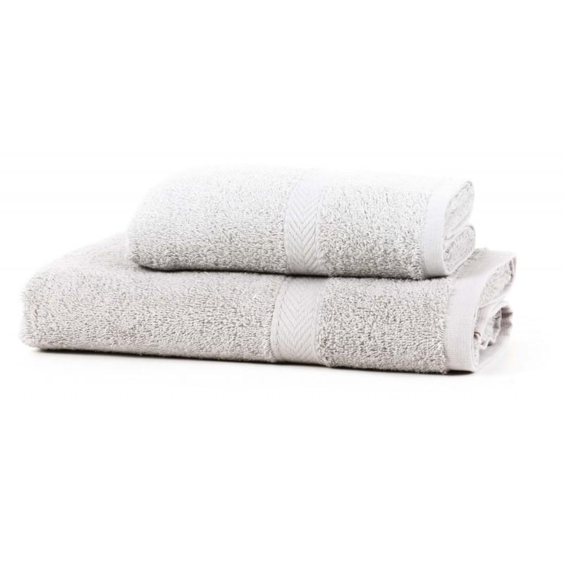 DRAP DE BAIN 150 x 100 cm gris coton 550gr/m2