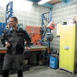 Ribimex Dévidoir automatique à air 15m tuyau gomme/pvc