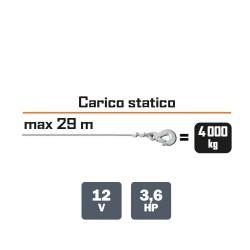TREUIL 4 tonnes ELECTRIQUE 12V TRACTION MAXI : 4000KG Ribimex
