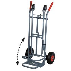 Chariot 250 kg Diable Professionnel 2 positions 4 Roues