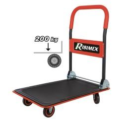 Chariot 200 kg à main pliable r4 oues ribimex