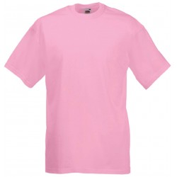 T-SHIRT 3/4ans à 14/15ans ENFANT ROSE PALE VALUEWEIGHT FRUIT OF THE LOOM SC221B