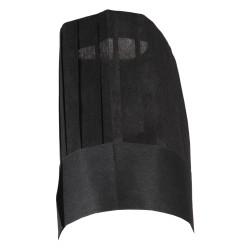 Chapeau jetable de chef cuisine en papier noir par 10