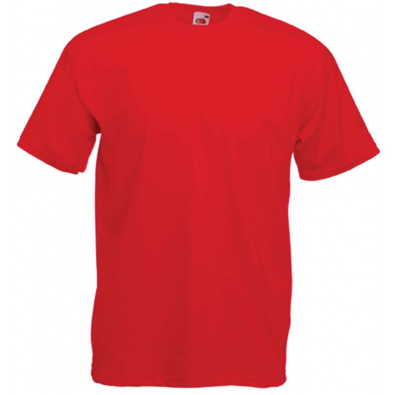 T-SHIRT 3/4ans à 14/15ans ENFANT ROUGE VALUEWEIGHT FRUIT OF THE LOOM SC221B