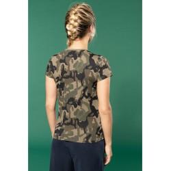 T-shirt camouflage manches courtes femme kariban