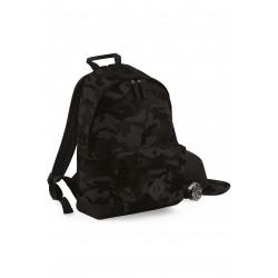Sac à dos Camouflage nuit noir gris urbain bagbase