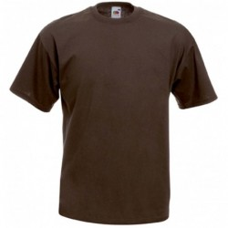 t-shirt S au 3XL marron chocolat homme valueweight fruit of the loom SC221