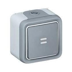 Legrand bouton Poussoir étanche NO lumineux 10A Plexo complet IP55 saillie 069722 0 697 22
