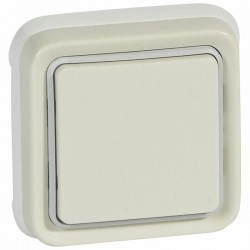 Legrand Interrupteur ou va-et-vient étanche Plexo complet IP55 encastré 10AX 250V blanc 069851 0 698 51