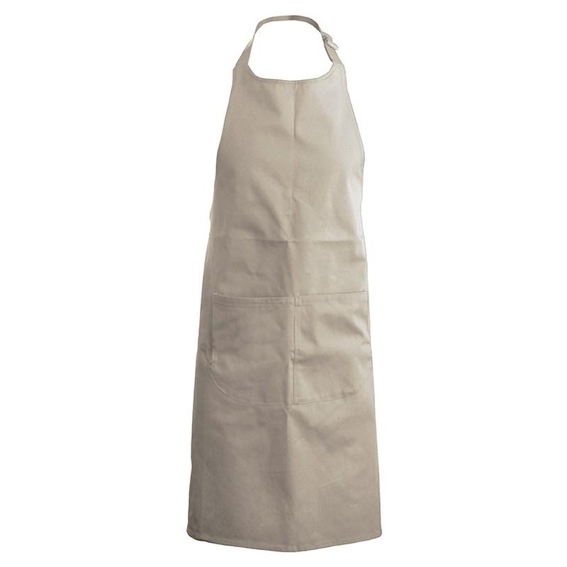 tablier de cuisine beige 100% coton kariban k885