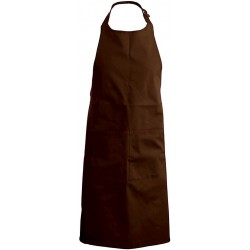 tablier de cuisine marron chocolat 100% coton kariban k885