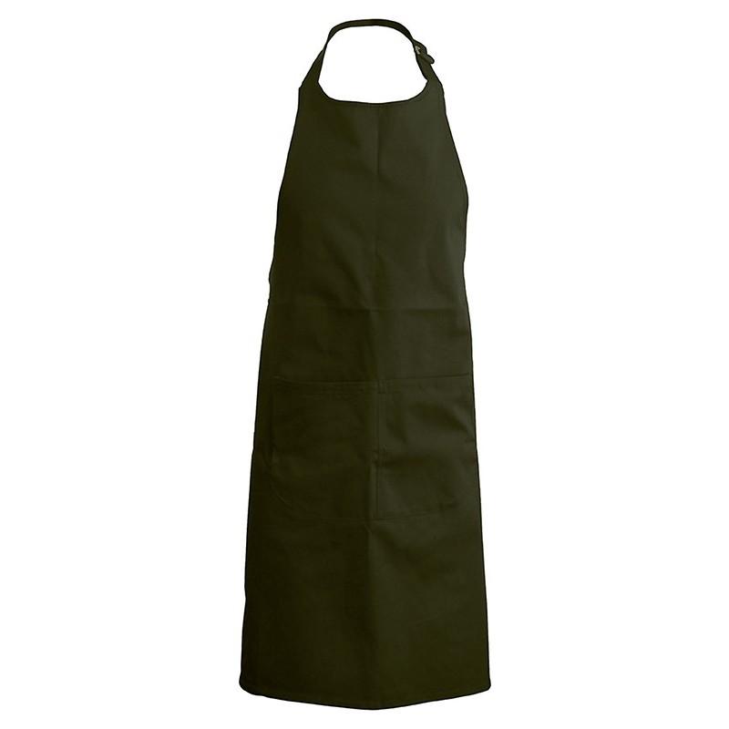 tablier de cuisine vert olive 100% coton kariban k885