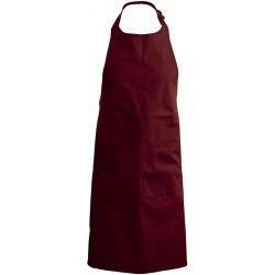 tablier de cuisine bordeaux 100% coton kariban k885