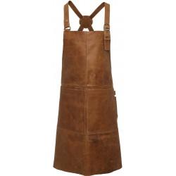 tablier artisan à bavette 100% cuir de buffle 2 poches plaquées devant marque Premier PR140