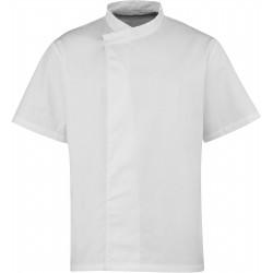 Tunique de cuisine blanche manches courtes marque Premier PR668