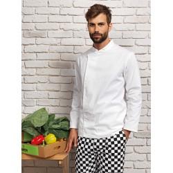 Tunique de cuisine blanche manches longues Col mandarin marque Premier PR669