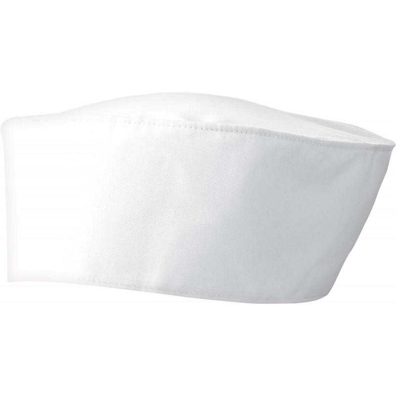 Calot de cuisinier blanc style marin marque premier PR653