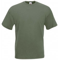 t-shirt S au 3XL kaki vert olive homme valueweight fruit of the loom SC221