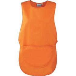 Tablier chasuble orange pour coiffeur, menage etc.. marque premier PR171