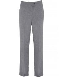 """Pantalon gris clair droit femme """"Iris"""" pour esthétique ou spa marque premier PR536"""